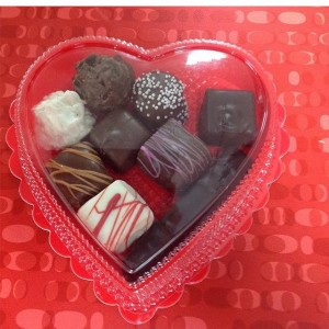 Valentines treats from Cliffside Coffee & Sweets in Cannon Beach
