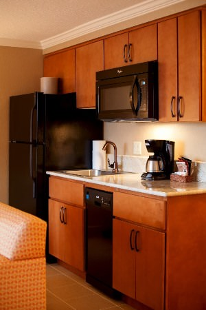 Kitchenette in the hospitality area at Hallmark Resort & Spa Cannon Beach