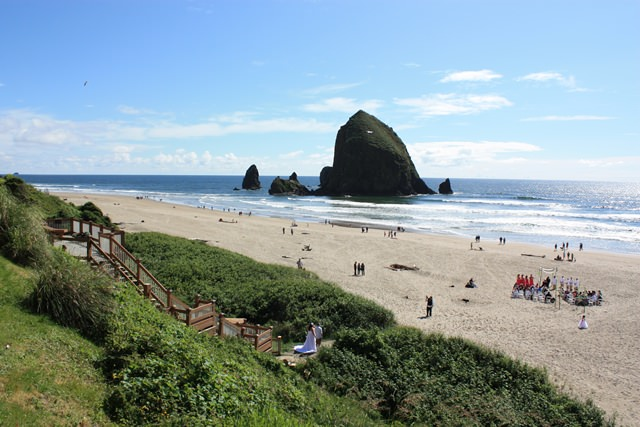 Cannon Beach Wedding View