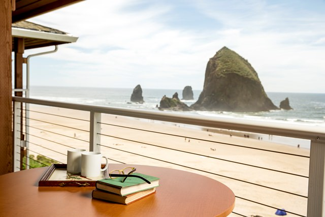 Cannon Beach balcony