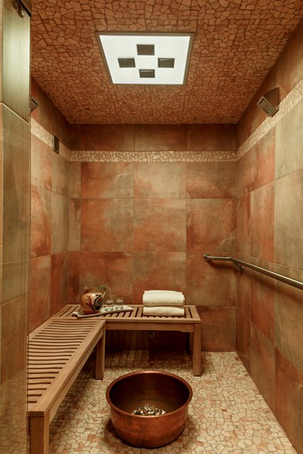 Shower and Sauna at Elements by the Sea Spa