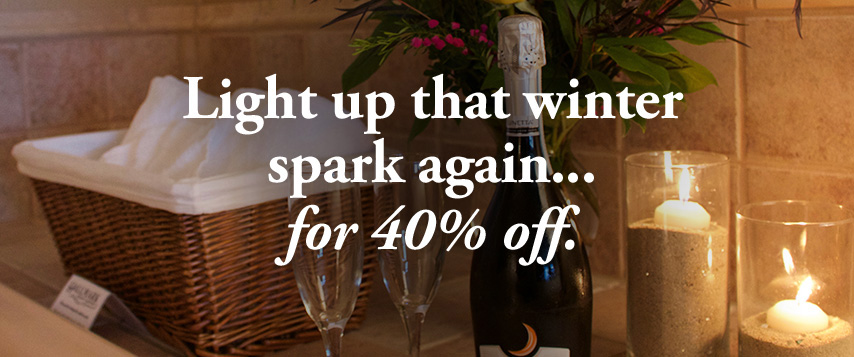 Light up that winter spark again... for 40% off.