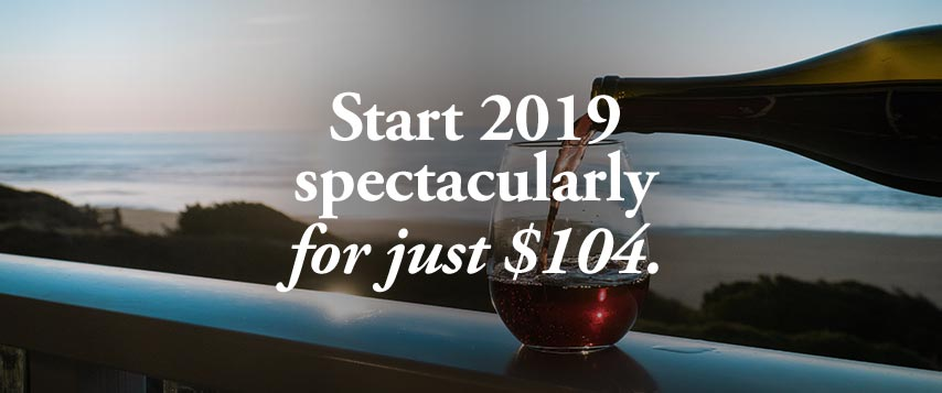 Start 2019 spectaculary for just $104