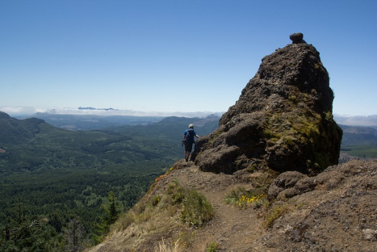 Hiking Saddle Mountain