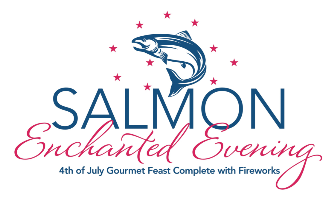 Salmon Enchanted Evening in Newport, Oregon