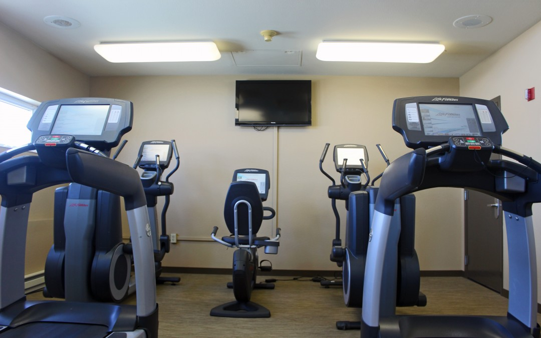 Upgrade to Life Fitness cardio in our fitness room.
