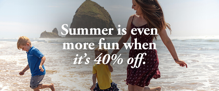 Summer is even more fun when it's 40% off.