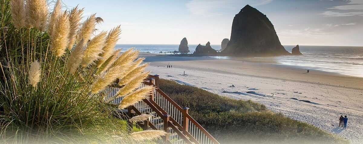 View of Haystack Rock from Hallmark Resort & Spa Cannon Beach