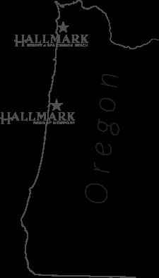 Cannon Beach Newport Oregon Oceanfront Hotels Map