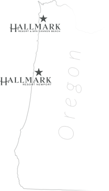 Cannon Beach & Newport Oregon Oceanfront Hotels map