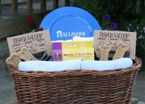 Pet welcome baskets at dog friendly Hallmark Resorts in Cannon Beach and Newport, Oregon